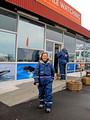 Linda geared up for Whale Watching Arctic Sea Tours Dalvik Iceland 16-L6-_6236a