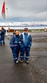 Phil and Linda geared up for Whale Watching Arctic Sea Tours Dalvik Iceland 16-L6-_7132