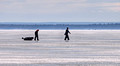 Ice Formations Ice Fisherman Chequamegon Bay Washburn Wisconsin 17-2-2523